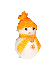 Christmas Decorations / Christmas Party Supplies Holiday Supplies Snowman Plastic / Foam Red / Blue / Yellow  3Pcs
