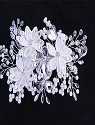 Women's Rhinestone Imitation Pearl Headpiece-Wedding Special Occasion Hair Pin 1 Piece