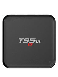 T95M Amlogic S905X Android TV Box,RAM 1GB ROM 8GB Quad Core WiFi 802.11g Não