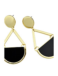 Latest Fashion Black Imitation Gemstone Big Drop Earrings