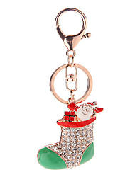 Key Chain Key Chain Diamond Red Silver Metal