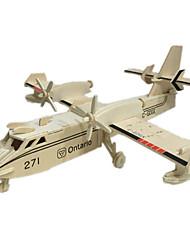 Jigsaw Puzzles 3D Puzzles Building Blocks DIY Toys Aircraft 1 Wood Khaki Model & Building Toy