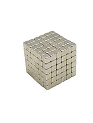 Toys Smooth Speed Cube Magnet Toys Super Strong Rare-Earth Magnets Silver Metal