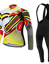 WOLFKEI Spring/Summer/Autumn Long Sleeve Cycling JerseyLong Bib Tights Ropa Ciclismo Cycling Clothing Suits #WK89