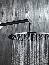 Contemporary 10 Inch Brass Round Rain Shower Chrome Feature for  Rainfall Eco-friendly  Shower Head