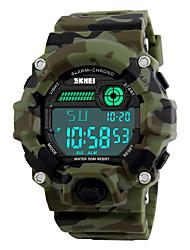 SKMEI Мужской Спортивные часы Армейские часы Наручные часы LED Календарь Секундомер Защита от влаги тревога Хронометр Фосфоресцирующий
