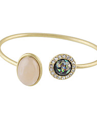 New Gold Design Imitation Opal Rhinestone Cuff Bangles Bracelets