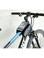 Bicycle Bag Front Frame Tube Bag MTB Road Bike Bag Double Pouches PVC Touchscreen Phone Case For 5/5.5 Cellphone