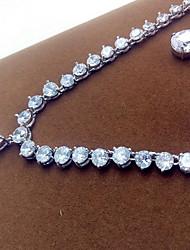 Schmuckset Zirkon Kubikzirkonia Silber Halsketten Ohrringe Für Party 1 Set Hochzeitsgeschenke