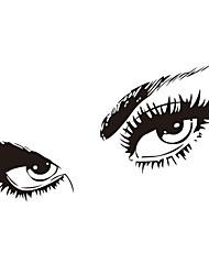 бесплатная доставка hepburns глаза виниловые наклейки для стен zooyoo8024 стикер стены 80 * 150см водонепроницаемый окна украшения дома