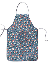 Rectangular Floral Apron  Poly / Cotton Blend Material Table Decoration 1set Waterproof