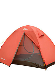 Waterproof Breathability Windproof Foldable Portable Keep Warm Ultra Light(UL) One Room Tent Green Orange
