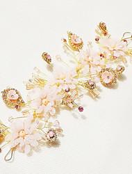 Women's Pearl Crystal Alloy Headpiece-Wedding Flowers 1 Piece