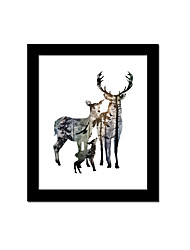 Unframed Canvas Print Abstract Modern / European Style Deer Pattern Wall Decor For Home Decoration