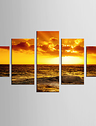 Canvas Set Landscape Still Life Modern Classic,Five Panels Canvas Any Shape Print Wall Decor For Home Decoration