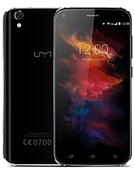 "UMi Diamond x 5.0 "" Android 6.0 Celular 4G ( Chip Duplo Quad núcleo 8 MP 13 MP 2GB + 16 GB Preto Dourado )"