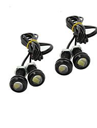 4x 9W LED ojo de águila de niebla del coche luz diurna DRL revertir 12v negro señal de estacionamiento de reserva