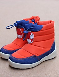 Boy's Boots Winter Comfort Customized Materials Casual Flat Heel Yellow Orange