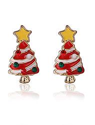 Pendientes cortos Legierung Chrismas Rojo/Blanco Joyas Fiesta Diario Regalos de Navidad 1 par