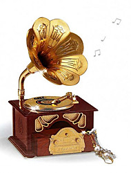 1 PC Creative Music Phonograph Modelling Desktop Decoration Furnishing Articles Retro Music Box Opening Gifts