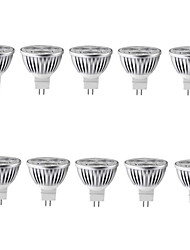 10pcs 6W MR16 500LM Warm/Cool Light Lamp LED Spot Lights(12V)