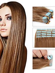 cabelo virgem do cabelo da pele atacado extensão de fita Remy extensão do cabelo humano várias cores brasileiro