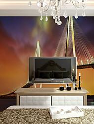 JAMMORY XL XXL XXXL Art Deco Wallpaper Luxury Wall CoveringCanvas Stereoscopic Large Mural  Bridge Landscape Sunset