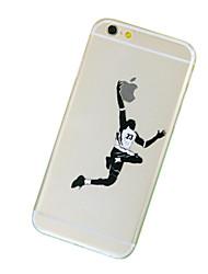 баскетбол шаблон ТПУ прозрачный мягкий случай телефона для iPhone 6 / 6с