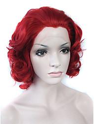 moda insufláveis vermelho camadas curtas de qualidade top perucas drag queen encaracolado sintético