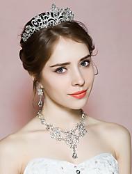 Bijoux 1 Collier / 1 Paire de Boucles d'Oreille / 1 Bijou de Cheveux Strass Mariage / Soirée 1set Femme A Motifs Cadeaux de mariage
