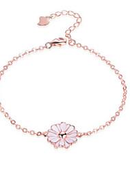Bracelet Chaînes & Bracelets Argent sterling Soirée Bijoux Cadeau Doré,1pc