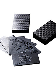 Black Foil Playing Cards Poker Cards