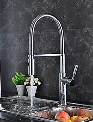 Contemporary Kitchen Faucet Pre Rinse Brass Chrome One Hole