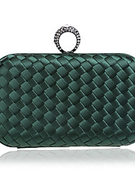 L.west Women Elegant High-grade Diamonds Weaving Evening Bag