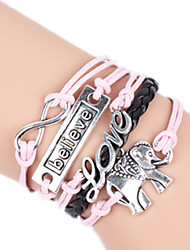 Bracelet Bangles Alloy Love Handmade Birthday / Daily Jewelry Gift Pink,1pc