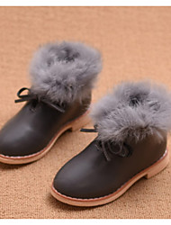 Boy's Boots Fall Winter Comfort Leatherette Casual Flat Heel Gray