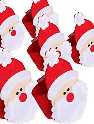 1pcs papai noel anel de guardanapo conjunto guardanapo de não-tecidos de Papai Noel
