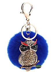 Key Chain Sphere / Eagle Key Chain Navy Blue Metal / Plush