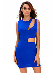 Women's Asymmetric Cutout Sexy Mini Club Dress