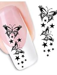 1sheet  Water Transfer Nail Art Sticker Decal XF1430