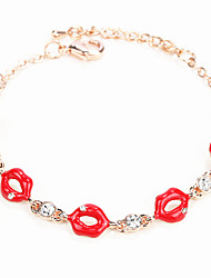 Bracelet Chain Bracelet Alloy Others Personalized Birthday / Gift / Wedding / Party / Daily / Casual Jewelry Gift Red,1pc