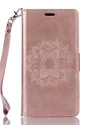 Pour sony xperia xa x cuir cuir datura flowers pattern papillon téléphone cas