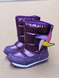 Girl's Boots Winter Comfort Customized Materials Casual Flat Heel Purple