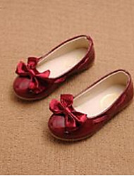 Girl's Flats Comfort PU Casual Pink Red