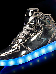 Girl's Athletic Shoes Winter Comfort Light Up Shoes PU Athletic Flat Heel Others LED Black Red White Silver Gold