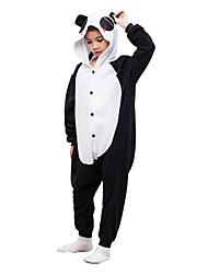 Kigurumi Pajamas Red Tear Panda Leotard/Onesie Festival/Holiday Animal Sleepwear Halloween Black Solid Polar Fleece For KidHalloween / Christmas /