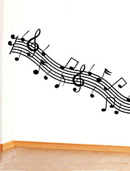 Wall Stickers Wall Decals,Solid Black Notes PVC Wall Stickers