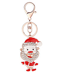 Key Chain House Key Chain / Diamond Red / Green / Silver Metal