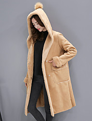 подписать в 2016 году зима новой европейской станции шубы женская имитация ягнят шерсть длинное пальто