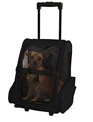 Dog Carrier & Travel Backpack Pet Carrier Portable Black Oxford Fabric